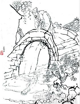 抗日英雄人物简笔画素描